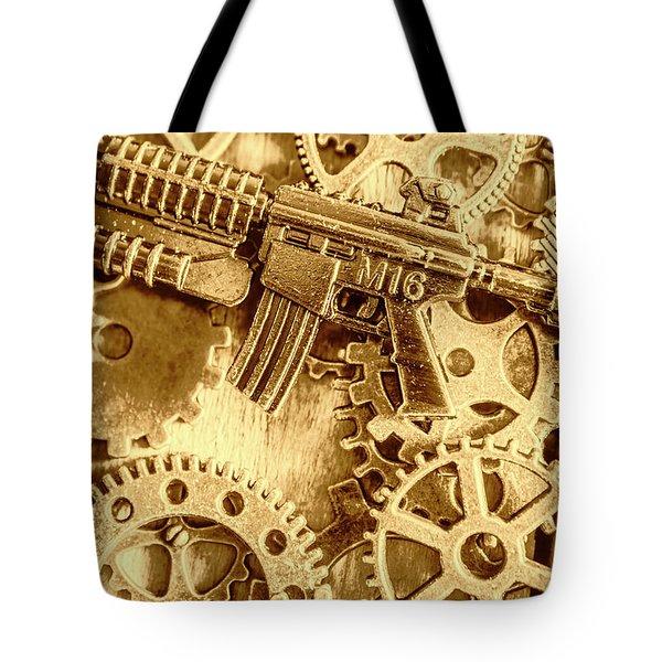 Vintage M16 Artwork Tote Bag