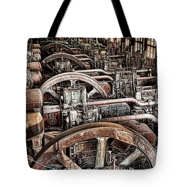 Vintage Machinery Tote Bag