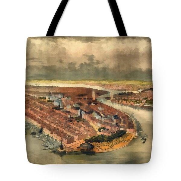 Vintage Manhattan Island Tote Bag