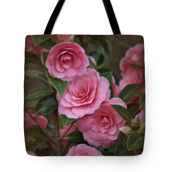 Tote Bag featuring the photograph Vintage March 2017 Camillias No. 2 by Richard Cummings