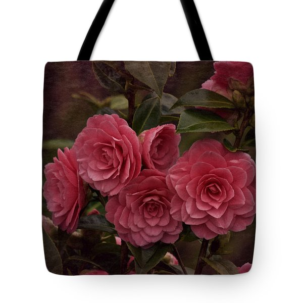 Tote Bag featuring the photograph Vintage March 2017 Camillias by Richard Cummings