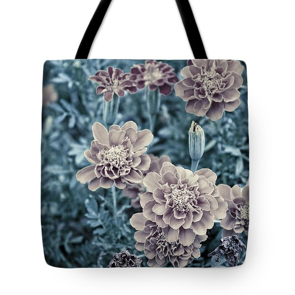 Tote Bag featuring the photograph Vintage Marigold by Megan Dirsa-DuBois