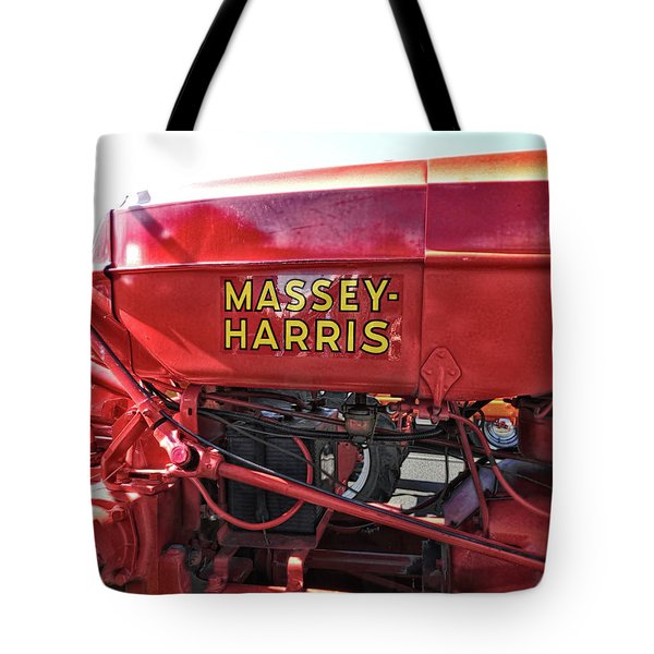 Tote Bag featuring the photograph Vintage Massey Harris Tractor by Ann Powell
