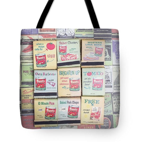 Tote Bag featuring the photograph Vintage Matchbooks by Edward Fielding