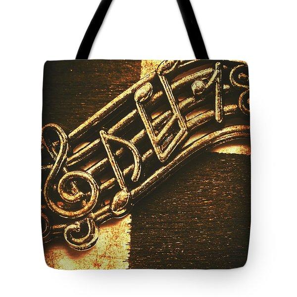 Vintage Melody Tote Bag