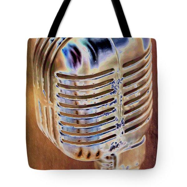 Vintage Microphone Tote Bag
