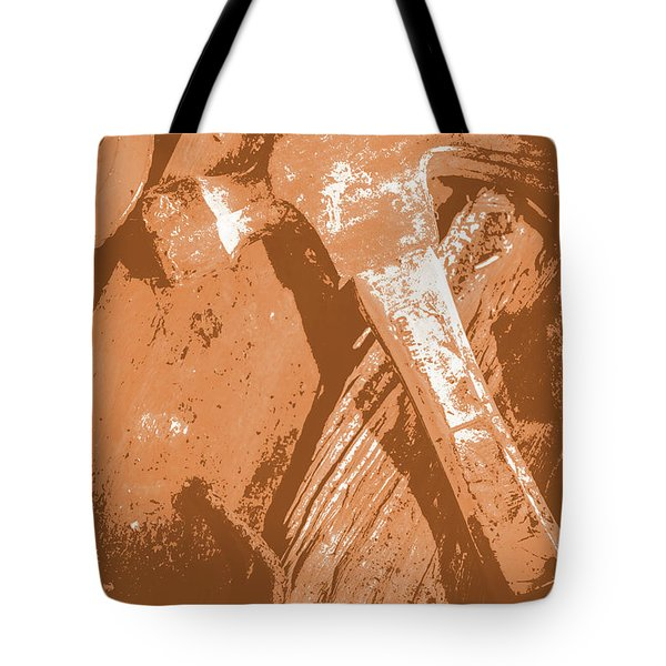 Vintage Miners Hammer Artwork Tote Bag