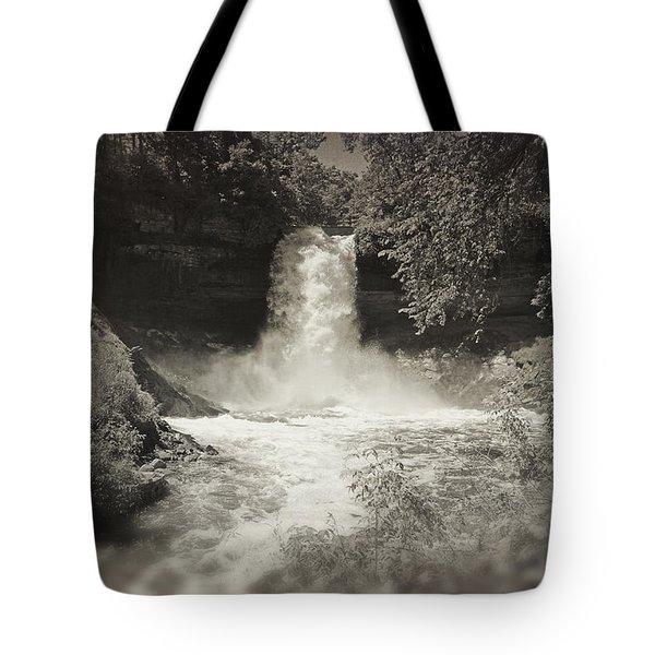 Vintage Minnehaha Falls V2 Tote Bag