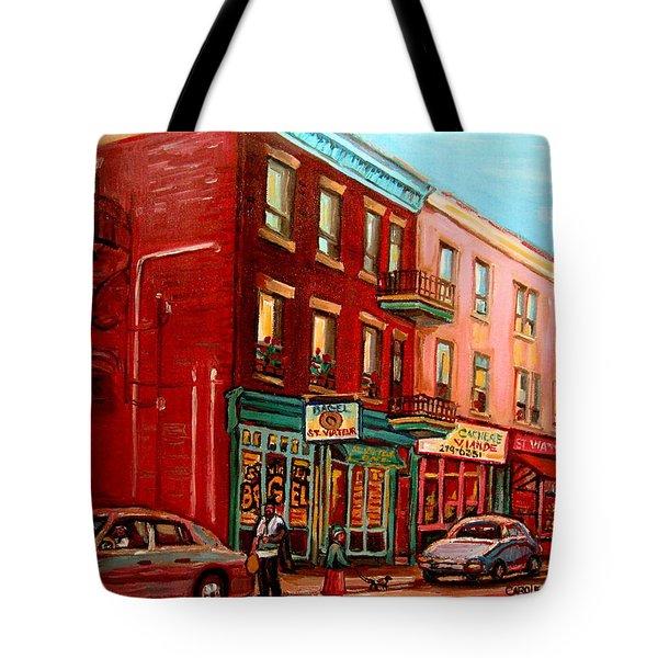 Vintage Montreal Tote Bag by Carole Spandau