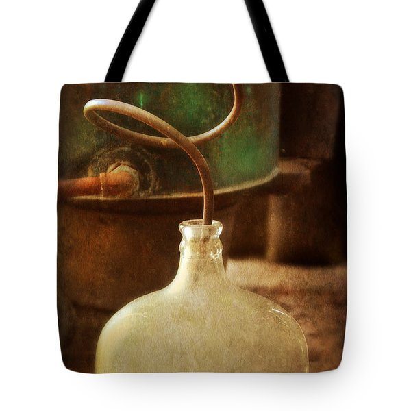 Vintage Moonshine Still Tote Bag by Jill Battaglia