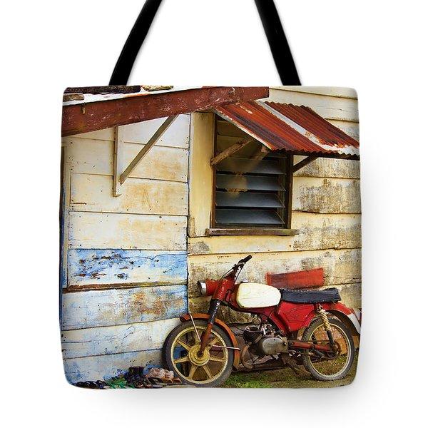 Vintage Motorbike Tote Bag