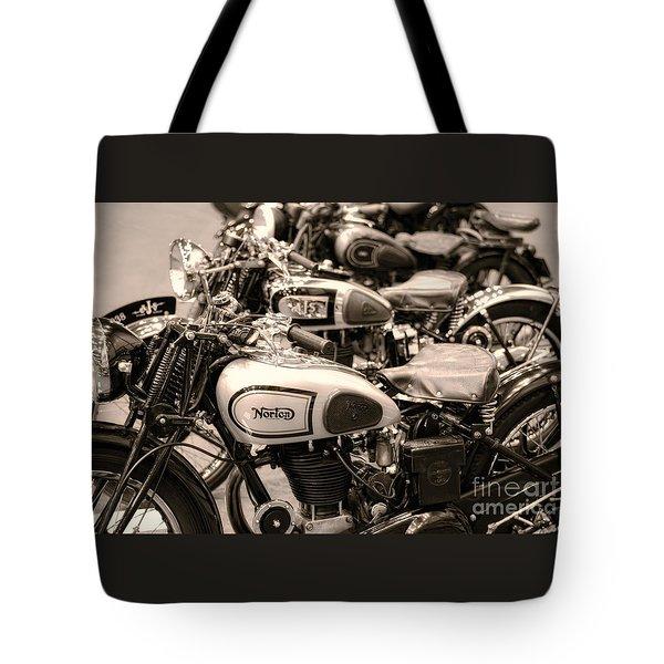 Vintage Motorcycles Tote Bag