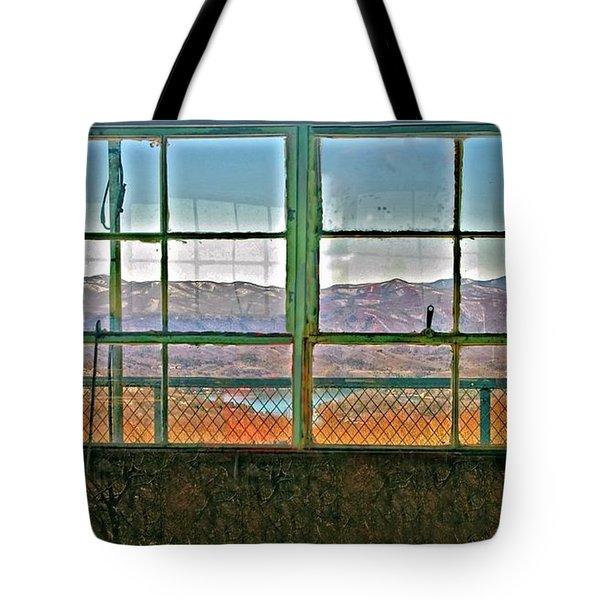 Vintage Mountain View Tote Bag