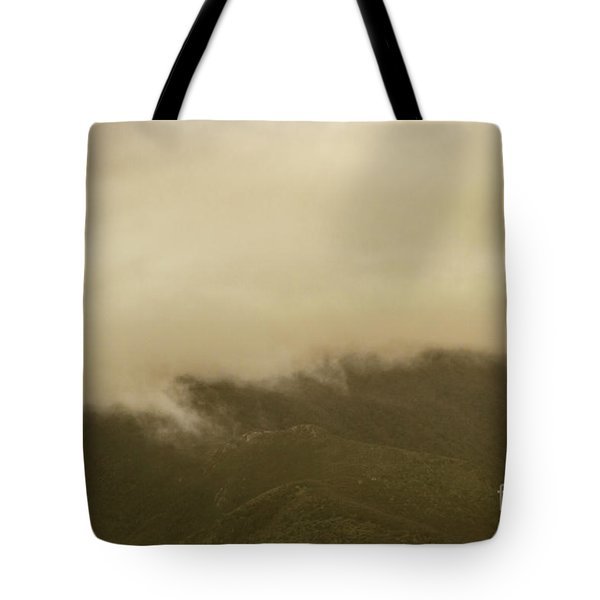 Vintage Mountains Covered By Cloud Tote Bag