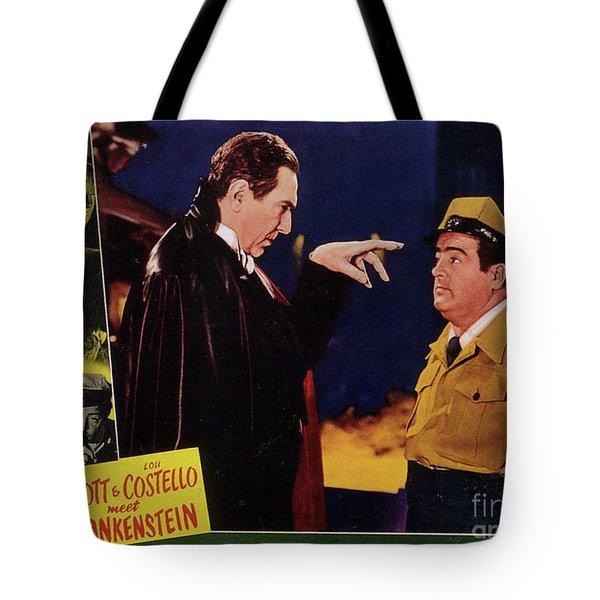 Vintage Movie Posters, Abbott And Costello Meet Frankenstein Tote Bag