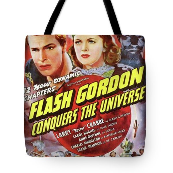 Vintage Movie Posters, Flash Godon Conquers The Universe Tote Bag