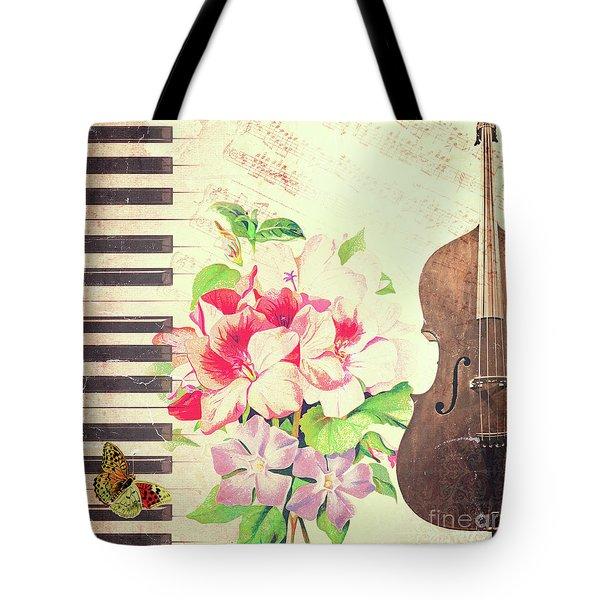 Vintage Music Tote Bag