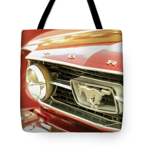 Vintage Mustang Tote Bag by Caitlyn Grasso