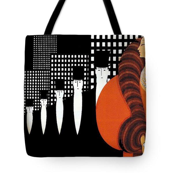Vintage New York Glamour Art Deco Tote Bag