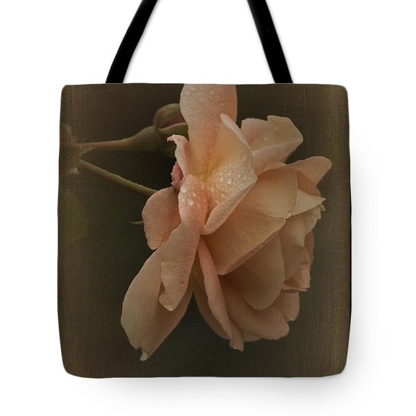 Vintage November Rose Tote Bag