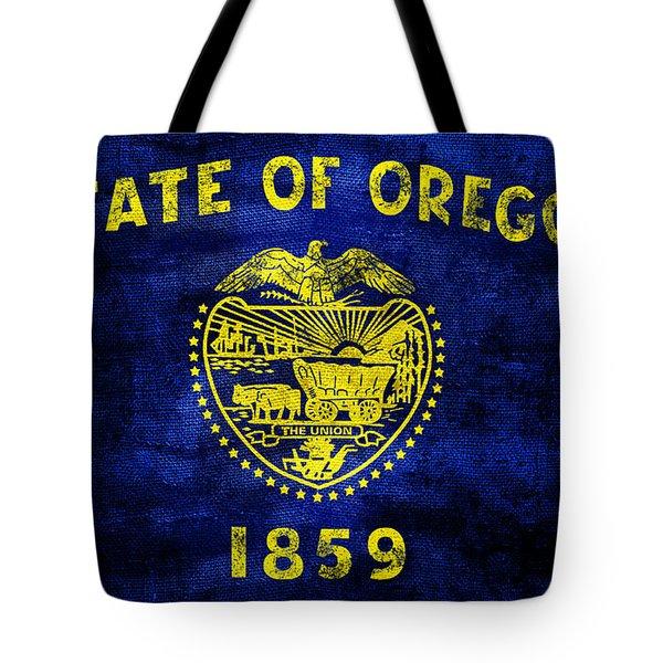 Vintage Oregon Flag Tote Bag by Jon Neidert
