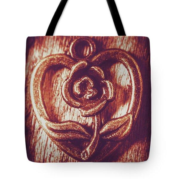 Vintage Ornamental Rose Tote Bag