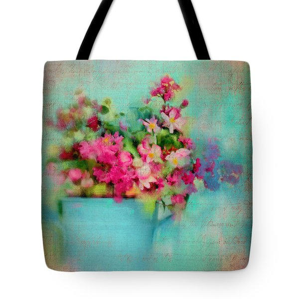 Flowers From A Cottage Garden Tote Bag