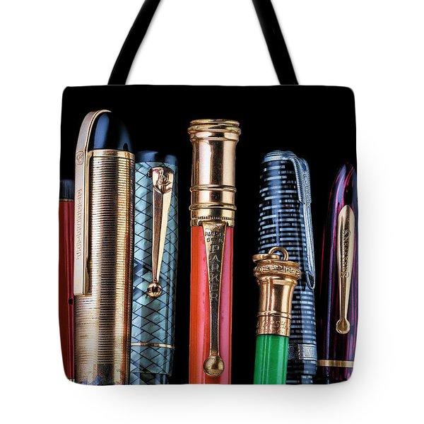 Vintage Pen Collection Tote Bag