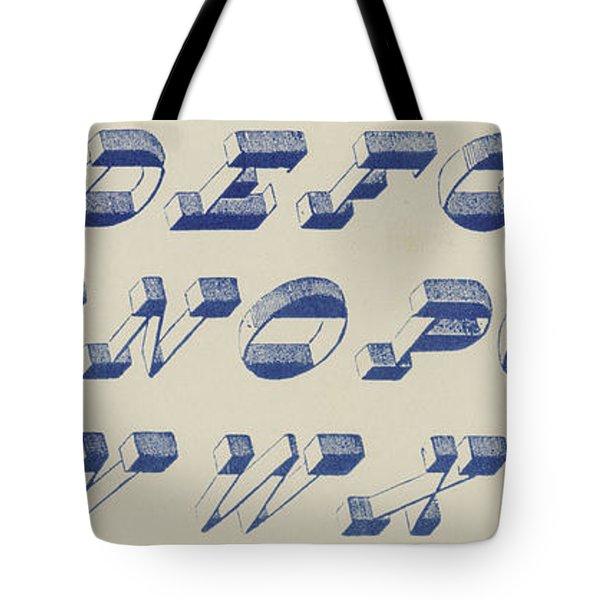 Vintage Perspective Italian Blue Font Tote Bag