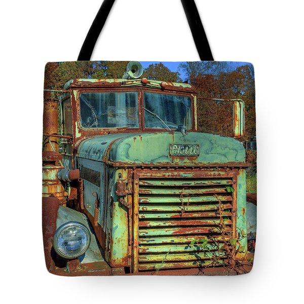 Vintage Peterbilt Truck Tote Bag