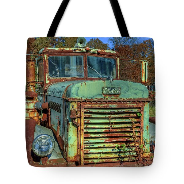 Tote Bag featuring the photograph Vintage Peterbilt Truck by Jerry Gammon
