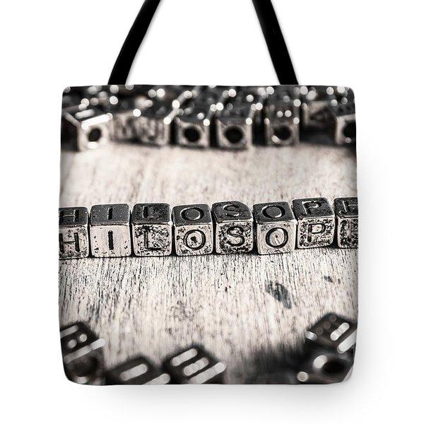 Vintage Philosopher Blocks Tote Bag