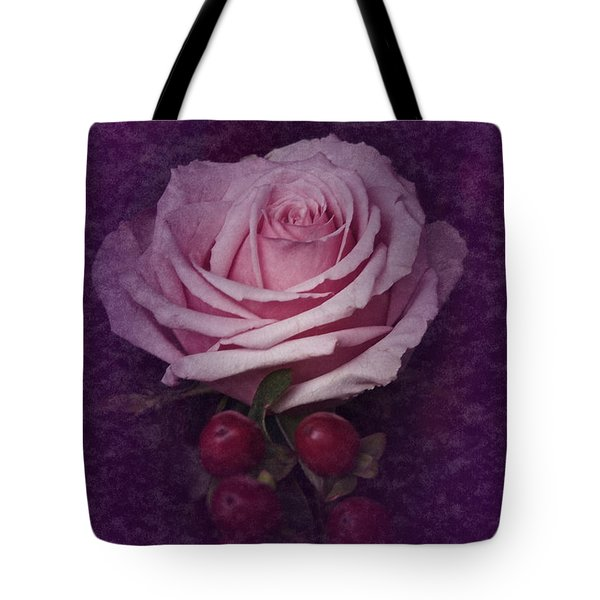 Tote Bag featuring the photograph Vintage Pink Rose Feb 2017 by Richard Cummings