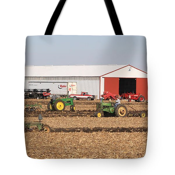 Vintage Plowing In Griswold Iowa Tote Bag