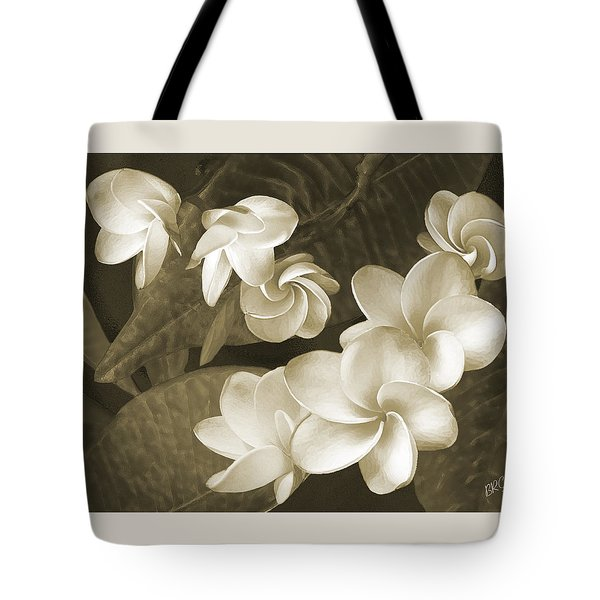 Tote Bag featuring the photograph Vintage Plumeria by Ben and Raisa Gertsberg