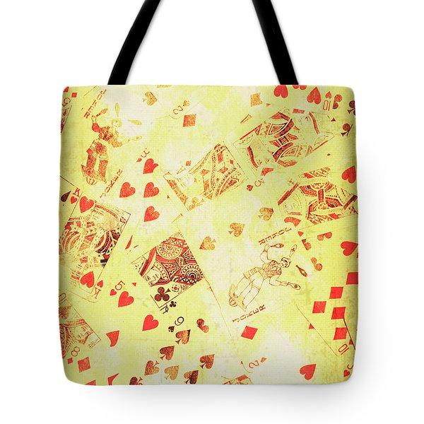 Vintage Poker Background Tote Bag