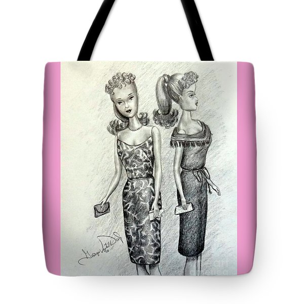 Vintage Ponytail Barbie Tote Bag