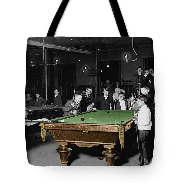 Vintage Pool Hall Tote Bag