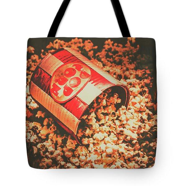Vintage Popcorn Tin. Faded Films Still Life Tote Bag
