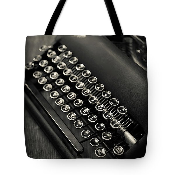 Tote Bag featuring the photograph Vintage Portable Typewriter by Edward Fielding