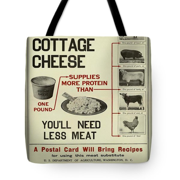 Vintage Poster - Cottage Cheese Tote Bag