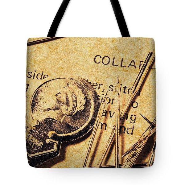 Vintage Quick Stitch Tote Bag