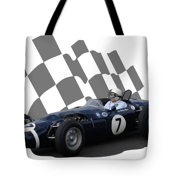 Vintage Racing Car And Flag 8 Tote Bag