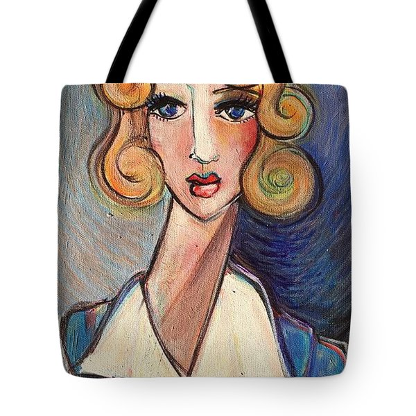 Tote Bag featuring the painting Vintage Red Cross Nurse by Laurie Maves ART