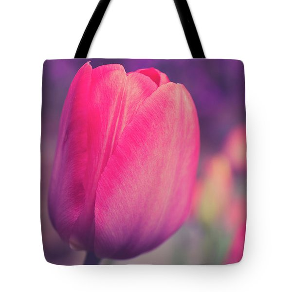 Tote Bag featuring the photograph Vintage Red Tulip Flower by Edward Fielding