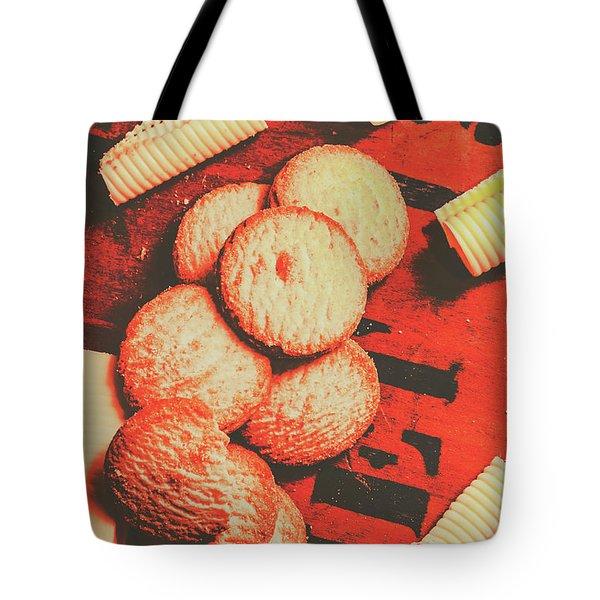 Vintage Rich Butter Shortcake Cookies Tote Bag