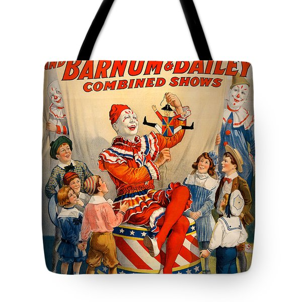 Vintage Ringling Brothers And Barnum And Bailey Combined Circus Tote Bag