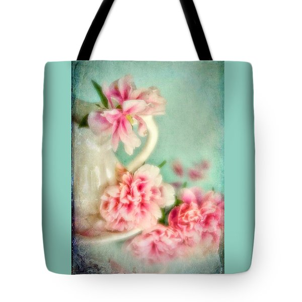 Tote Bag featuring the photograph Vintage Romantic Peonies by Diane Alexander
