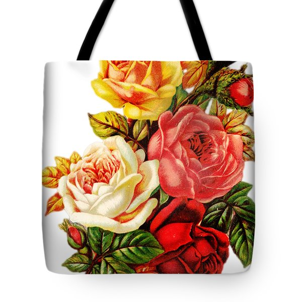 Tote Bag featuring the digital art Vintage Rose I by Kim Kent