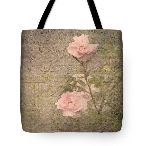 Vintage Rose Poster Tote Bag
